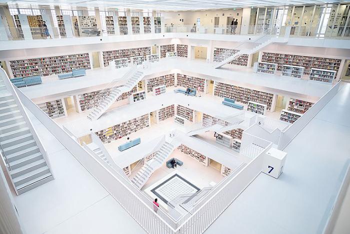 Շտուտգարտ․ Գերմանիա քաղաքային գրադարան